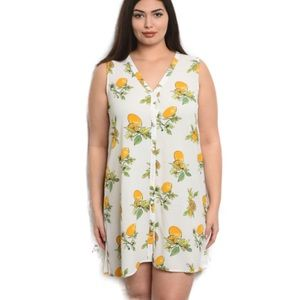 Dresses & Skirts - Host Pick! 🍋NWT Plus Size Button Front Dress 🍋